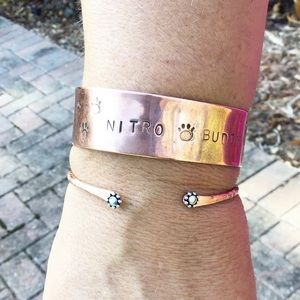 Tiny Daisy Copper Cuff, select your size, NEW